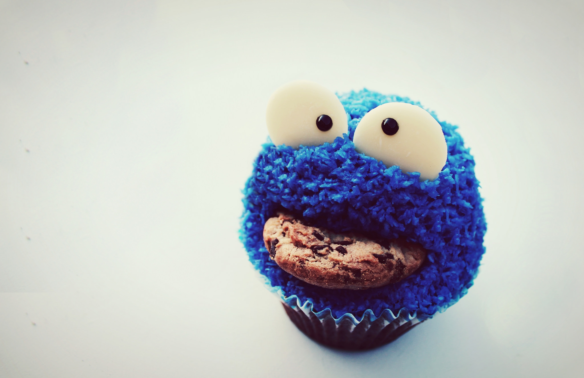 A Cookie monster cupcake made by me.